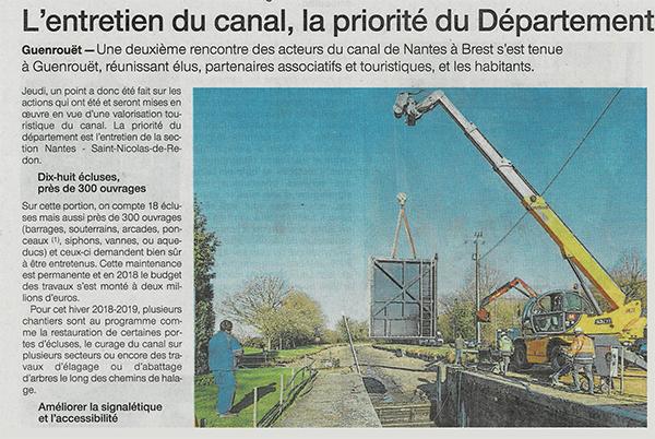 Ouest France 22 Janvier 2019